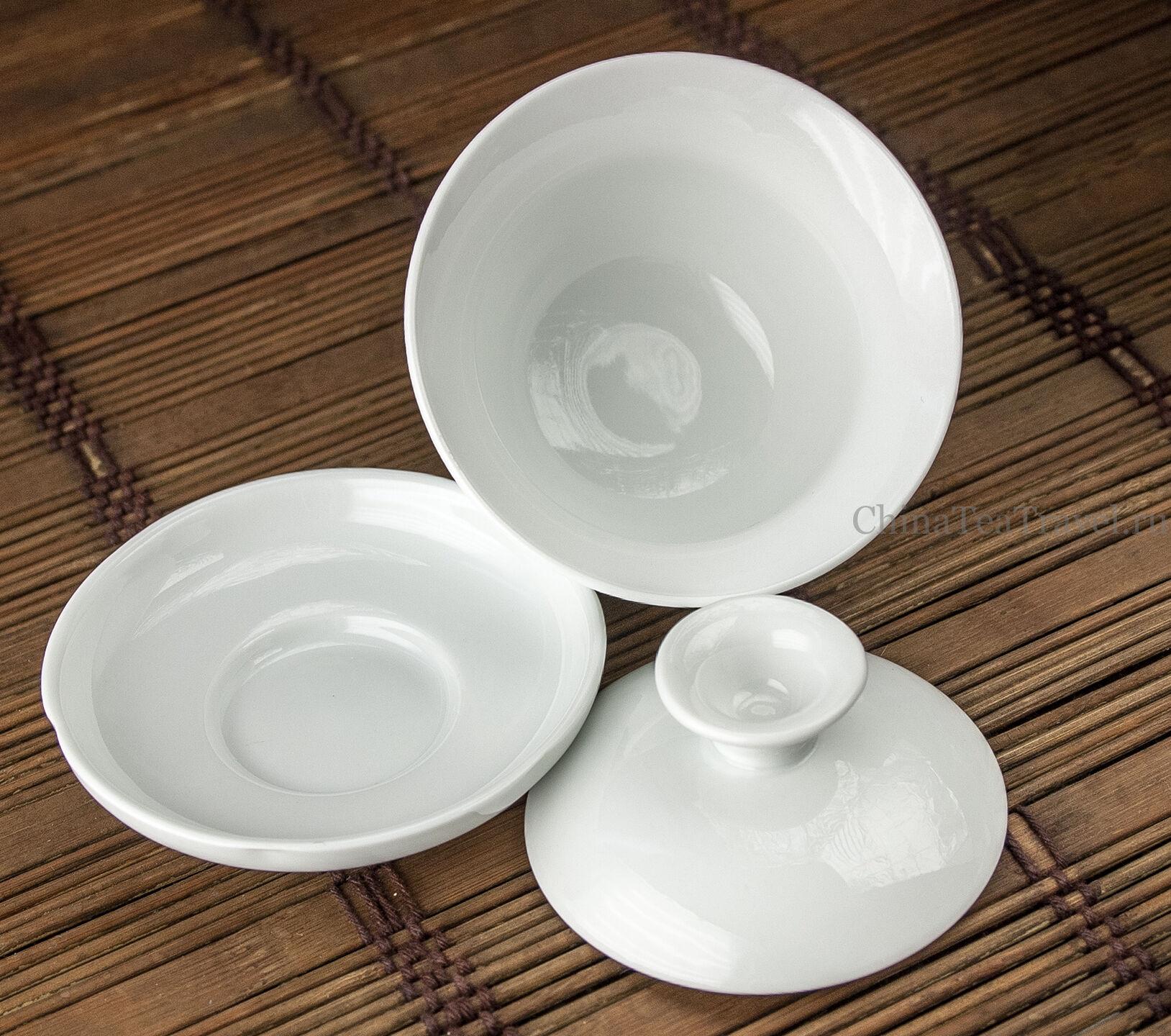 3 Гайвань титестера фарфоровая белая. 80 мл.